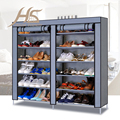 House Scenery 12 Layers Assembled Non-woven Fabric Shoes Cabinet Foldable Dustproof Wetproof Shoes Lockers Racks For Living Room