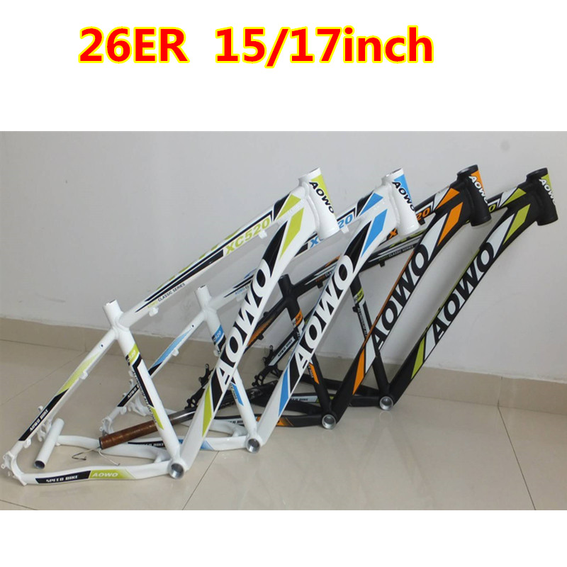 aowo Aluminum alloy mountain bike frame 26 inches 15 17 inches lightweight frame good quality himalo richbit new aluminum mountain bike frame