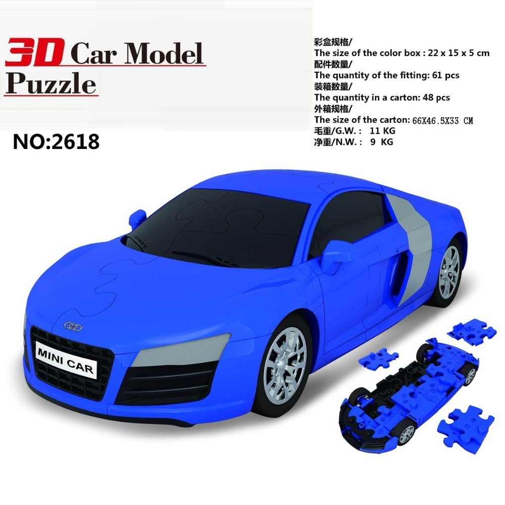 3D Car Model Audi R8 Racing Car Building Blocks City Assemble Toy Kids  Early Educational Toys For Kids Birthday Gift In Blocks From Toys U0026 Hobbies  On ...