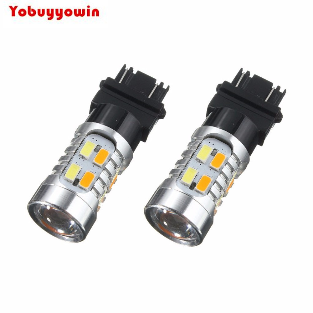 3157 3057 High Power 5730 Bulbs Projection Switchback Dual Color Amber White for Car Auto Front Rear Turn Signal Tail Lights DRL