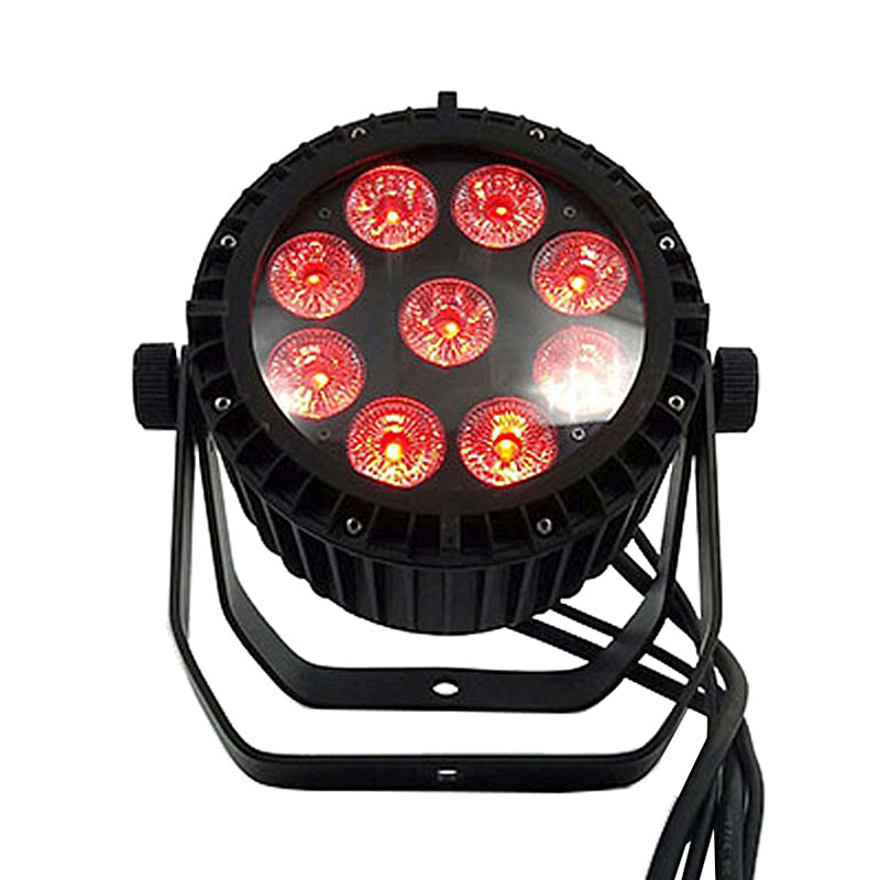 Waterproof LED Par 9x18W RGBWA+UV DMX512 Stage Effect Outdoor IP65 Lighting Good For Outdoor Swimming Pool DJ Disco Bar Clubs