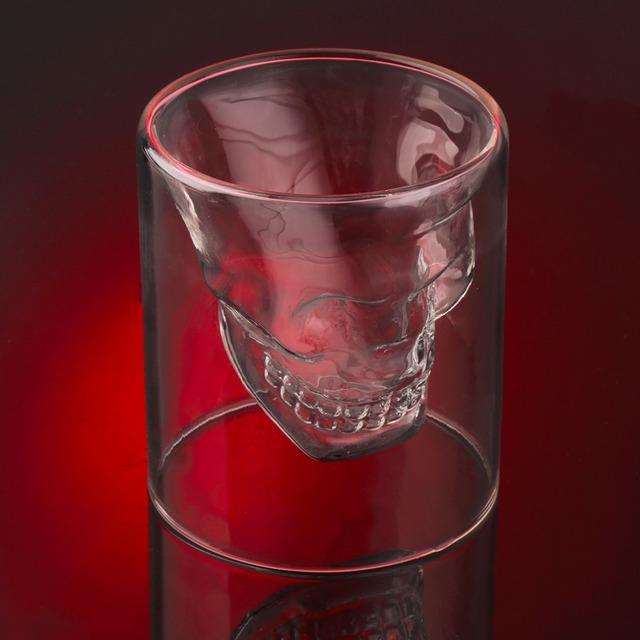 Skull Whisky Liqueur Wine Cocktail Glass – Set of 2