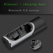 Smart Bluetooth 5.0 earphones binaural earbuds MINI invisible Stereo noise reduction Waterproof sport music HD call Charging Box smart bluetooth earphones binaural noise reduction stereo sport music earplugs super bass waterproof hd call fast charging box