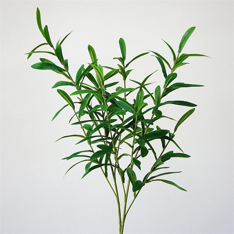 10Pcs Fake Greenery Olive Branch 8 stems piece Simulation Green Plant for Wedding Centerpieces Home Showcase