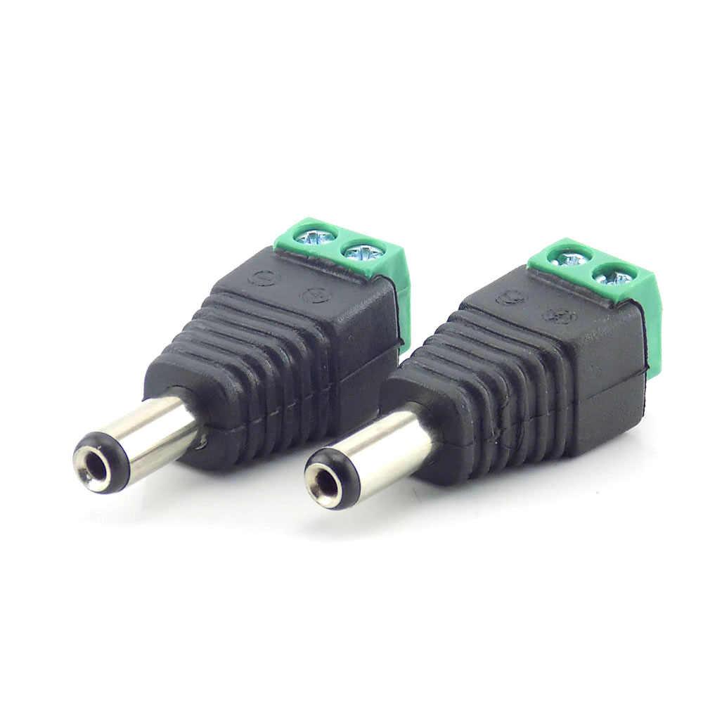 1 unidad conector macho Bnc conector macho CD adaptador fuente de alimentación BNC enchufe DC adaptador para cámara de vigilancia CCTV sistema CCTV Bnc