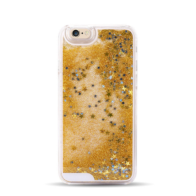 Pevný trblietavý obal HVIEZDA pre iPone 7farieb Transparent Glitter Case for iPhone