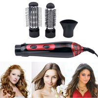 220 240V 3 In1 Hair Dryer Brush Straightening Comb Hair Curler Blow Dryer Hair Curling 1200W