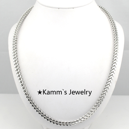 Top qualité 55 cm * 3mm serpent plat figaro chaîne Rock homme collier livraison gratuite collier en argent hommes bijoux bijoux collier KN296