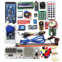 Kit de iniciación 2560 r3, servo RFID, relé de rango ultrasónico LCD para arduino