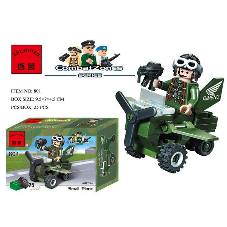 801 25pcs Military Constructor Model Kit Blocks Compatible LEGO Bricks Toys for Boys Girls Children Modeling
