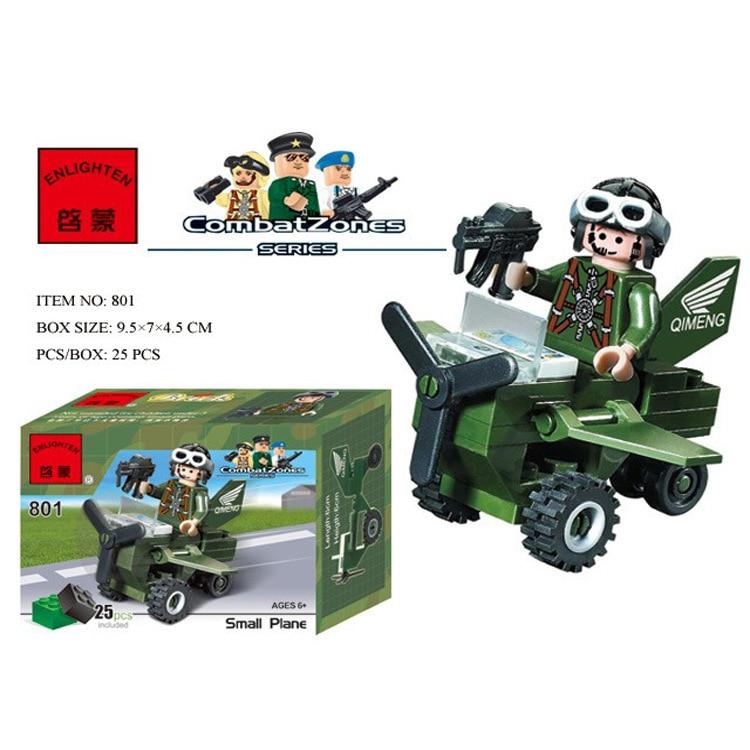 801 25pcs Military Constructor Model Kit Blocks Compatible LEGO Bricks Toys For Boys Girls Children Modeling