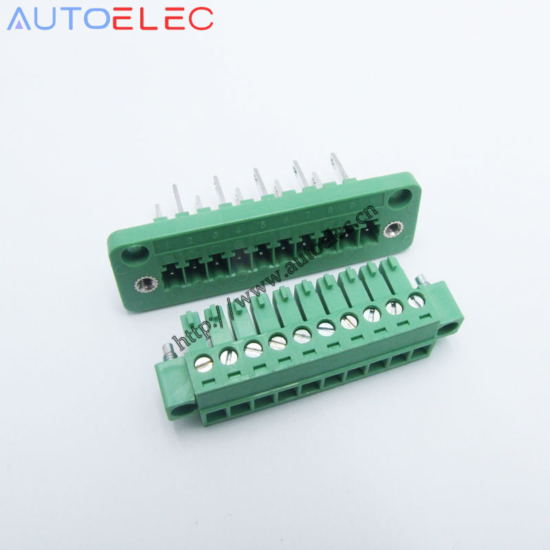 20pcs lot Pitch 3 81mm 10P PCB terminal blocks with screw lock 1829413 1827787 instead of