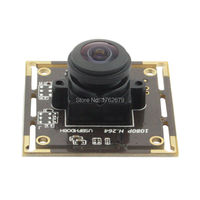 Wide Angle Usb Camera Module 1080P 180 Degree Fisheye Lens CMOS Sony IMX322 USB Board Camera