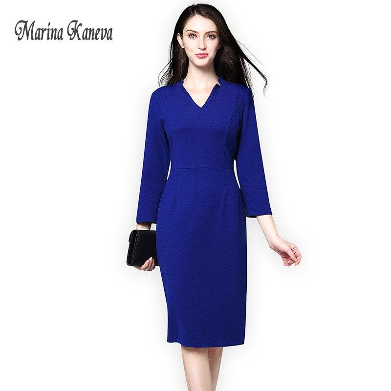 64d8c91ea55 Купить Для женщин винтажные офисные платье синий черный женский Дамы ...
