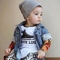 Sun Moon Niños Del Bebé Tops 2016 Nuevos Bebés Del Tatuaje de Malla de Manga larga Camisetas Lindas de los Bebés Viste Camiseta de Los Niños
