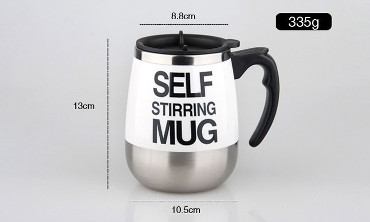 450ml Stainless Steel Self Stirring Mixing Mug Protein Shaker Multifunction Smart Mixer Blender Cup Automatic Electric Coffee Mugs (11)