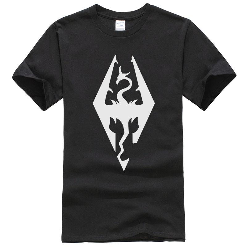 Game The Elder Scrolls Skyrim Tees Cotton Print T Shirt Unisex Good Quality T-shirt Summer Short Sleeve Tops T169