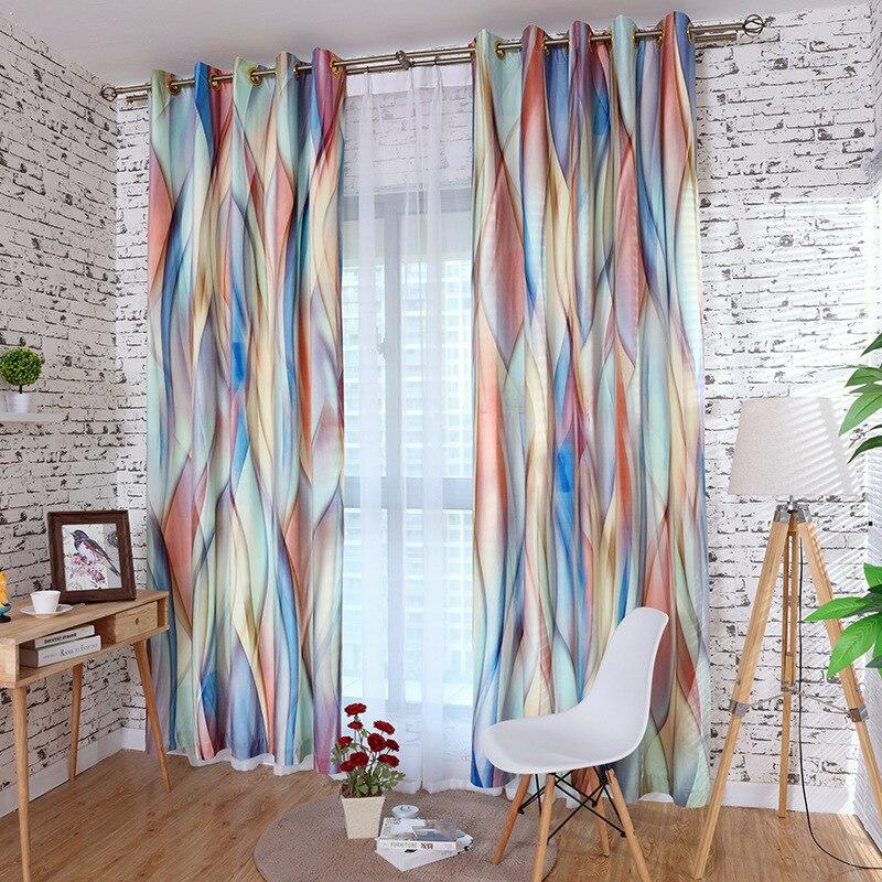Rideaux de Style de peinture à l'encre et au lavage sur mesure rideau d'impression 3D salon Bedrtoom écologique rideau occultant en cachemire