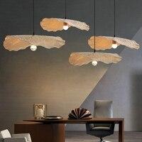 Скандинавский лист лотоса светодио дный светодиодные подвесные светильники столовая золотая металлическая светодио дный светодиодная По