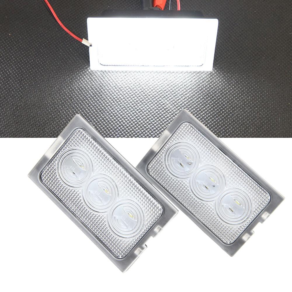 2x Error Free 12V Interior LED Courtesy Door Foot Light For Land Rover Discovery 3 4/Freelander 2/Rang Rover Door welcome light