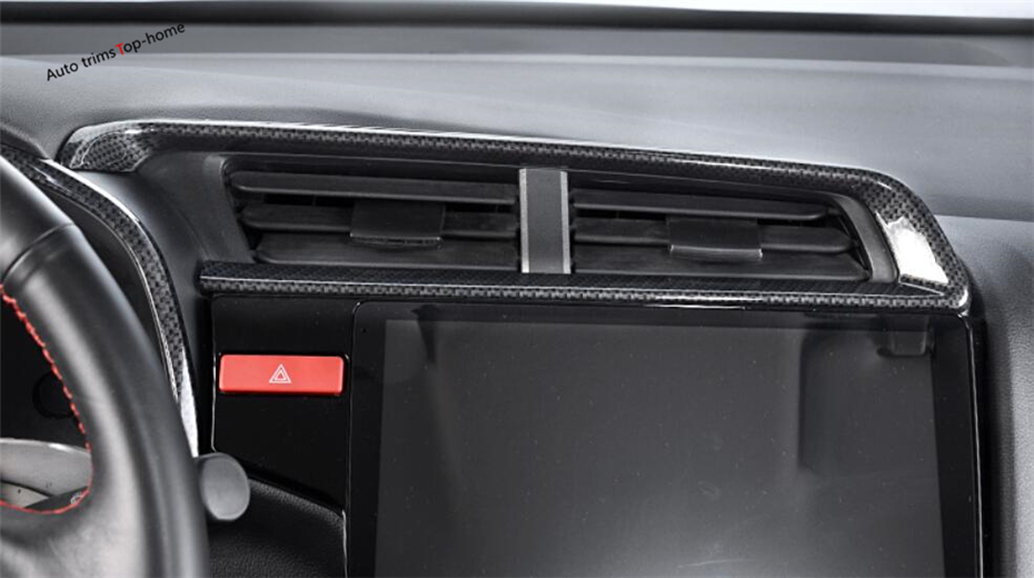 Modest Yimaautotrims For Honda Fit Jazz 2014-2018 Abs Carbon Fiber Style Air Conditioning Ac Outlet Vent Interior Cover Trim 4 Piece To Help Digest Greasy Food Interior Mouldings Interior Accessories