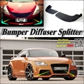 Divisor de coches Difusor Canard Lip Bumper Para Audi TT/TTS Tuning Kit de carrocería/Deflector Frontal Coche Aleta Barbilla Reducir Cuerpo Sintonía Vista
