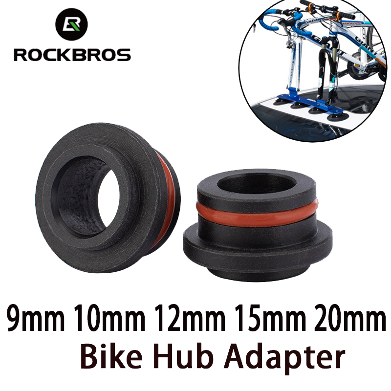 1 Pair Bicycle Hub Adapters 9/ 12/ 15/ 20 Mm * 100/110mm Bike Carrier Accessories For Car Roof-Top Bicycle Rack Hub Convertors
