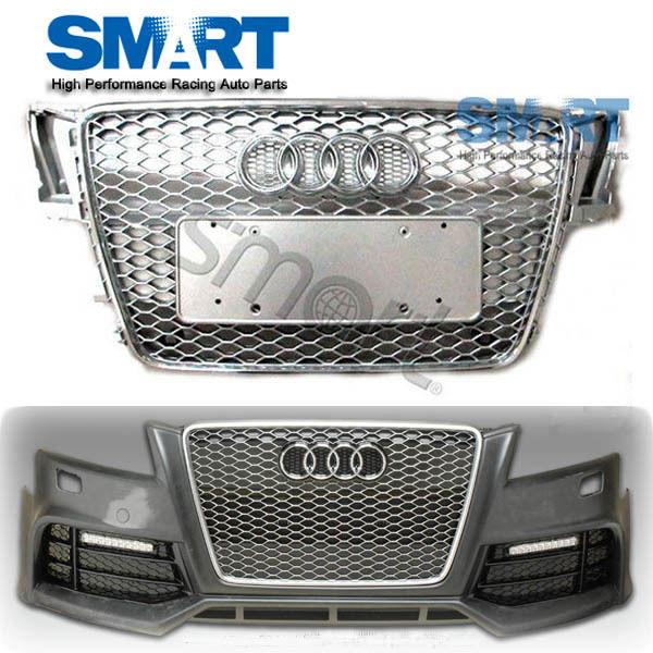 rs5 front euro race s line gunmetal mesh grille for 2007. Black Bedroom Furniture Sets. Home Design Ideas