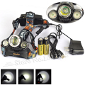 Camping 5000 Lumens T6+2R2 Head Light Headlamp Lantern Headlight Head Flashlight Lamp 5000 Lumen+ 2*18650 battery+Ac/Usb Charger