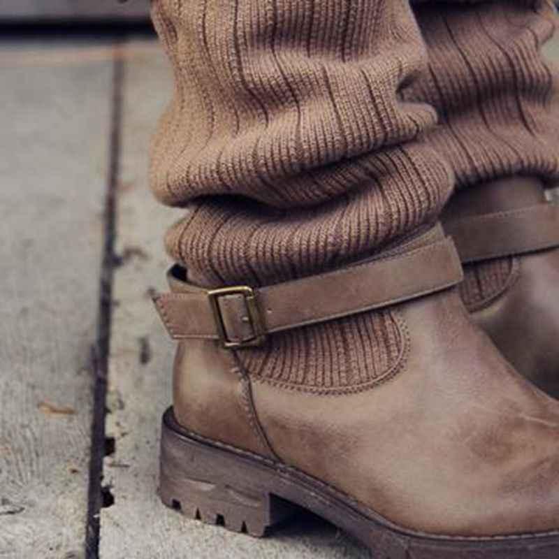 MoneRffi 2019 Seksi Patik Yeni Sonbahar Ve Kış Patlamalar Artı Boyutu Moda Elastik Çorap Çizmeler Tıknaz Streç Kadın