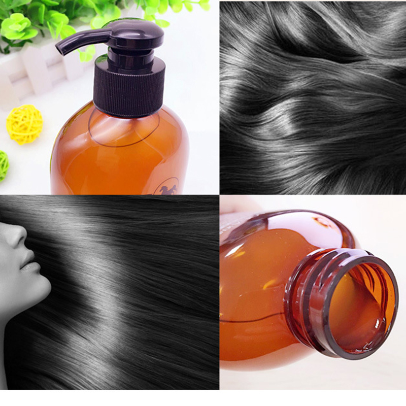 BIOAQUA 300ml Professional Hair Care Product Horse Oil Without Silicone Anti Hair Loss Shampoo Improve Frizz Repair Damage