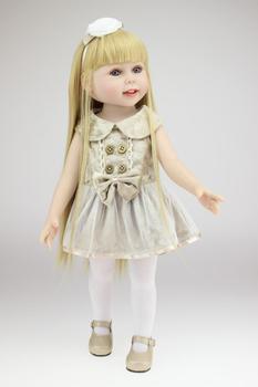 NPK 45 cm/18 Inch  Princess Reborn Girl Doll Handmade Reborn Baby Toys Girl Dolls Plaything Toys for Children
