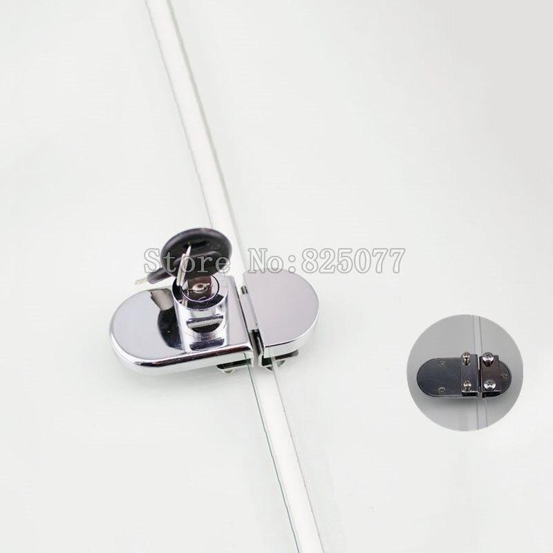 Coulissantes En Verre Porte verrouillage à cliquet avec 2 clés pour Cabinet Vitrine Display