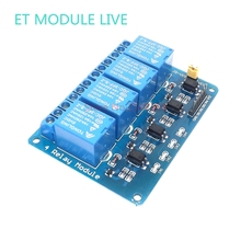 1pcs 5V low level trigger four 4 Channel Relay Module interface Board Shield For PIC AVR DSP ARM MCU Arduino