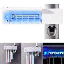 Anti Bacteriën UV Tandenborstelhouder Reizen Automatische Tandenborstel Houder Opbergdoos Beugel USB Oplaadbare Badkamer Accessoires