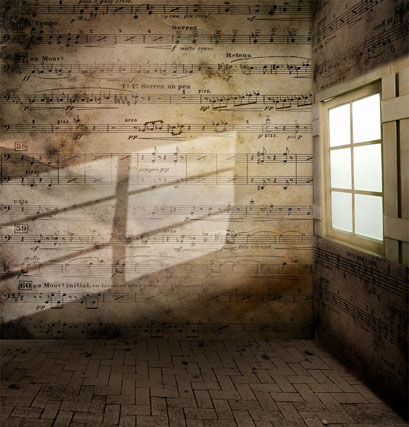 Vinyl music wall window photography backdrops printed wedding background for photo studio 5X7ft image