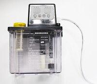 2l display digital dupla elétrica bomba de óleo bomba de lubrificação automática cnc torno lubrificador eletromagnética bomba