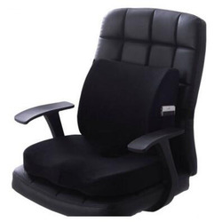New Fashion Seat Cushion And Waist Cushion Set Short Plush Memory Foam Chair Lower Back Cushion And Lumbar Pillow