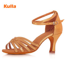 цены на Glitter Latin Dance Shoes For Women High Heels 5/7cm Salsa Tango Ballroom Dancing Shoes Soft Sole Professional Samba Dance Shoes  в интернет-магазинах