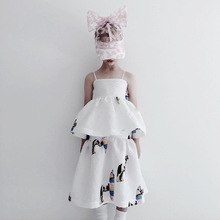 2019 Caroline Bosmans girls dresses princess  kids for toddler dress unicorn party ins