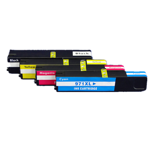 1 set 4pcs compatible ink cartridge For HP 970 971 XL ink cartridge for hp Officejet Pro X576dwMFP X476dnMFP X476dwMFP X551dw hwdid 56xl 57xl ink cartridge compatible for hp 56 57 c6656a c6657a deskjet 450ci 5550 5552 7150 7350 7000 2100 220 printer