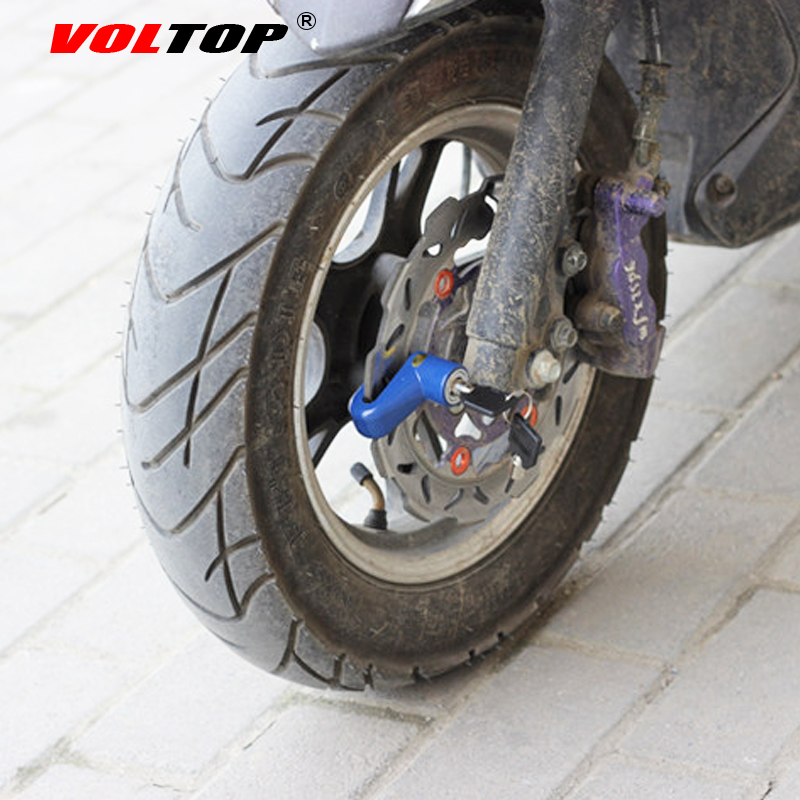 Canopus Motorcycle Bicycle Security Wheel Disc Brake Lock Bike Anti-theft Black