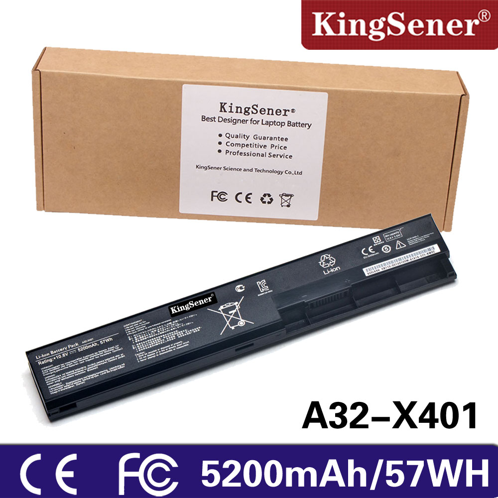 KingSener 5200mAh Laptop Battery For ASUS A32-X401 A31-X401 A41-X401 A42-X401 X301 X301A X301U X401 X401A X401U X501 X501A X501U [special price] new laptop battery for asus x301 x301a x301u x401 x401a x401u x501 x501a x501u a31 x401 a41 x401 free shipping