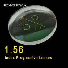 ENGEYA 1.56 Index Interieur Progressieve Lenzen Gratis Vorm Multi Focal Lens Asferische Hars Sterkte Met Groene Coating