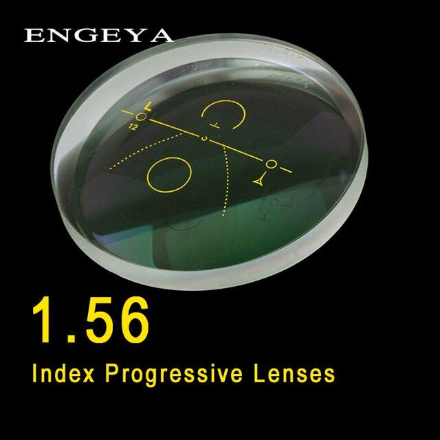Линзы ENGEYA 1,56 Index для салона, прогрессивные линзы свободной формы, многослойные асферические линзы, линзы по рецепту из смолы с зеленым покрытием