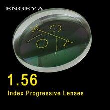 ENGEYA 1,56 índice Interior lentes progresivos forma libre lentes esféricos multifocales resina gafas de prescripción con recubrimiento verde