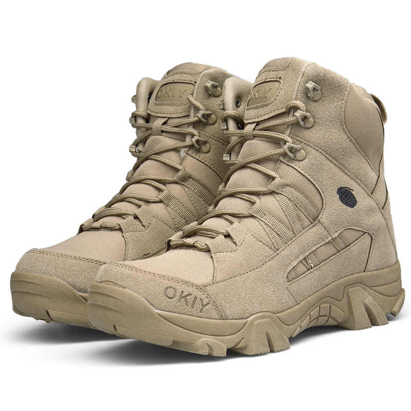 61a6c2f411 ... Genuine Leather Military Boots Men American Tactical Army Shoes Special  Forces Desert Combat Boots Autumn Winter ...