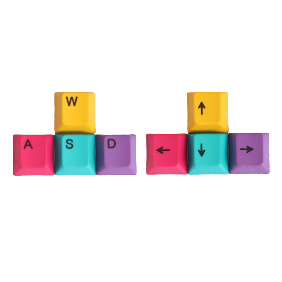Constructive Mantistek 9pcs Esc Wasd Direcition Keys Double Color Injection Molding Pbt Keycaps Key Caps Red White With Keycap Puller Good Companions For Children As Well As Adults
