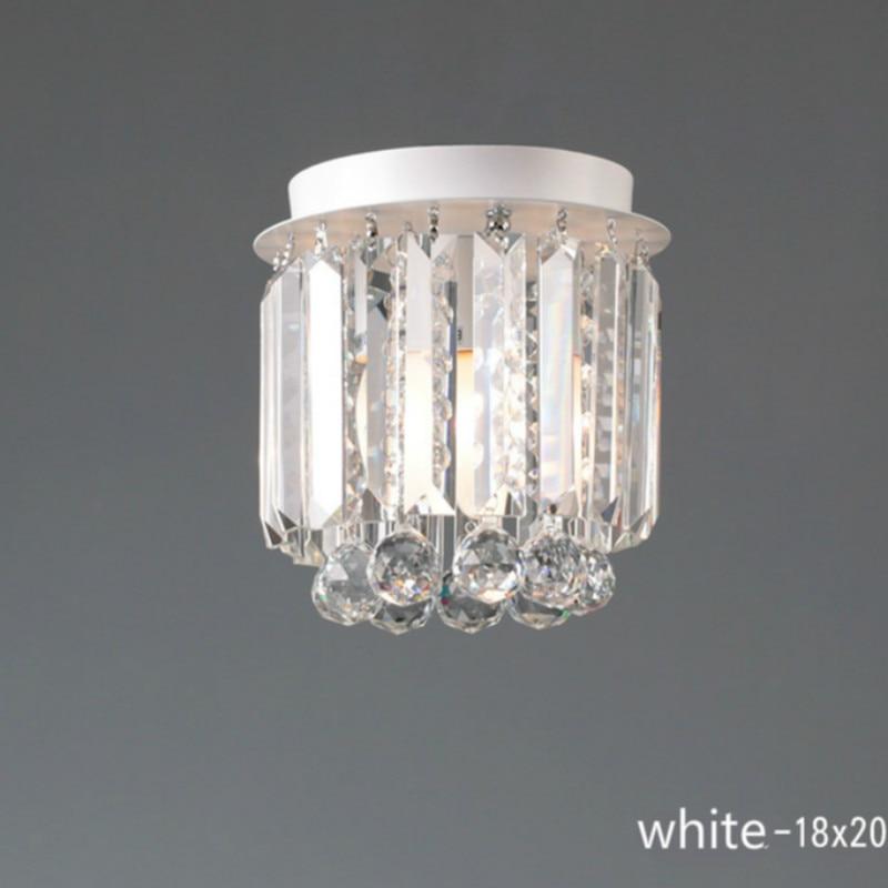 modern Fashion Luxurious K9 Crystal Led E14 Round Ceiling Light For Living Room Corridor Aisle Entrance Foyer Ac 80-265v 1897