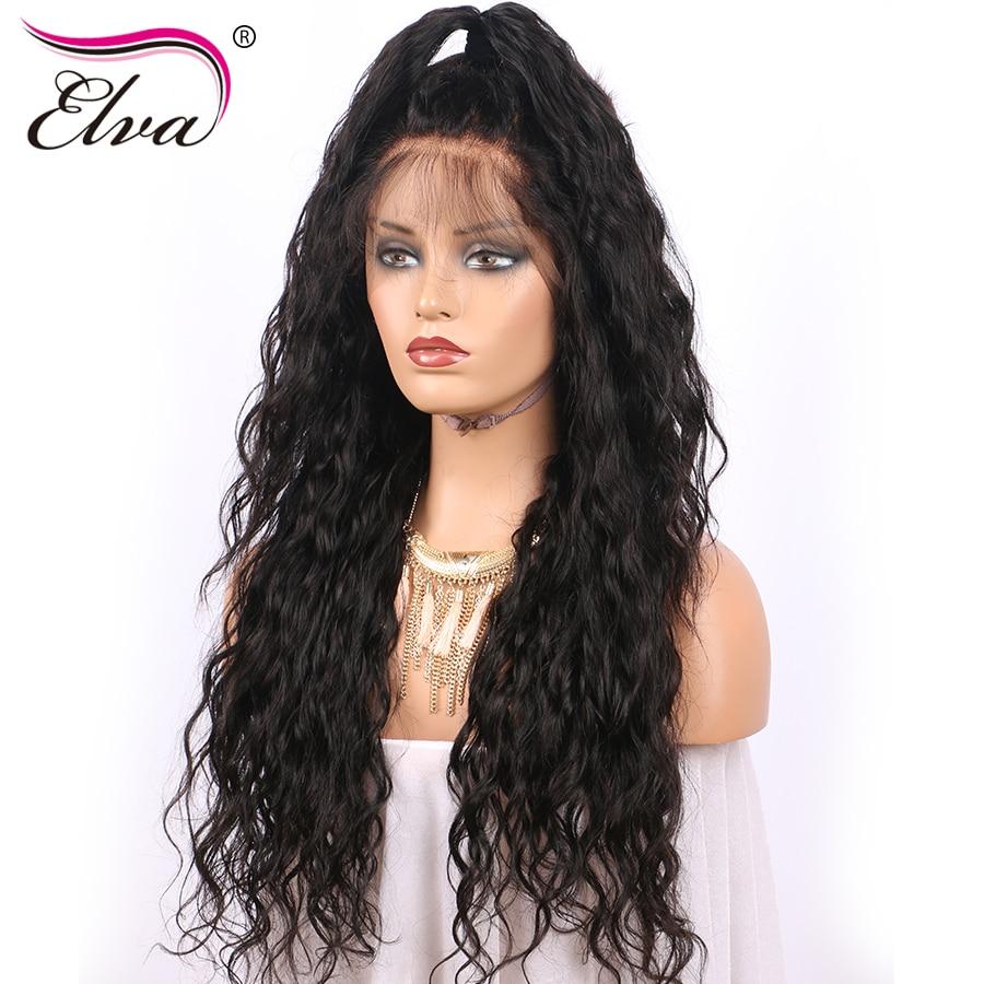 elva pelo del frente del cordn pelucas de cabello humano pre cabello arrancado con pelo del